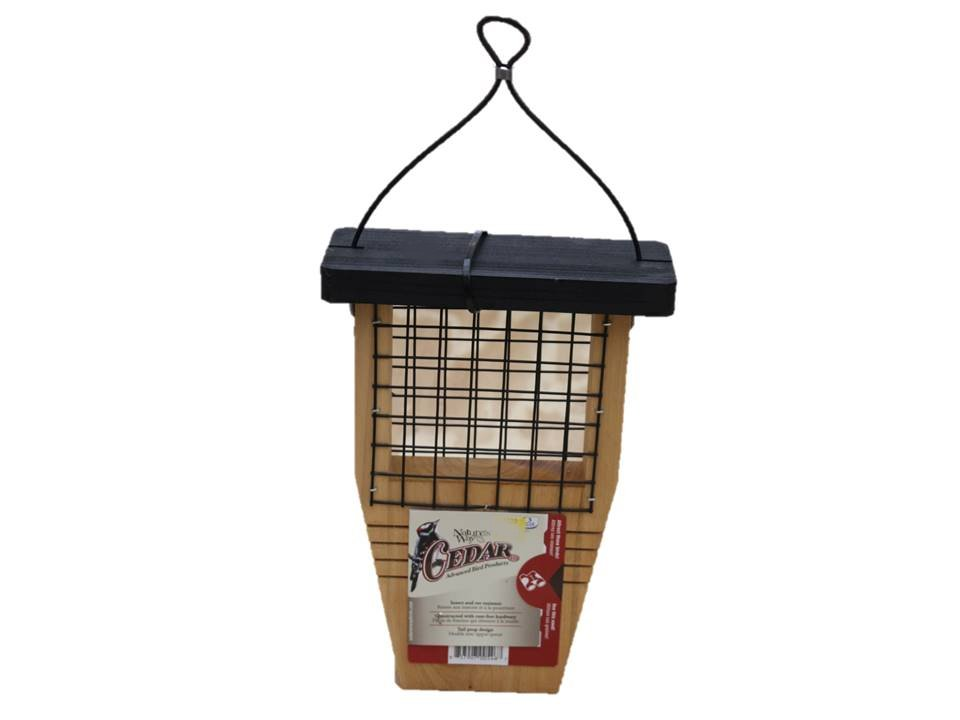 Nature Bird Feeder Suet Tail Prop Cedar