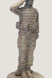 Saluting Combat Soldier