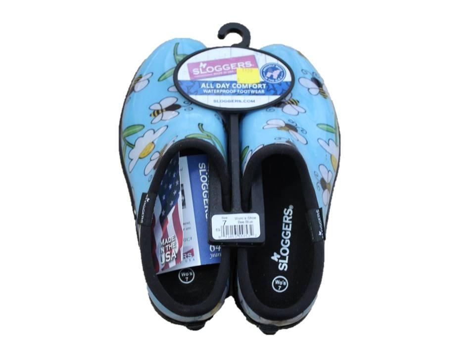 Sloggers Garden Shoe Bee Blue - Size 7