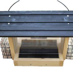 Nature Bird Feeder W/Suet Cage