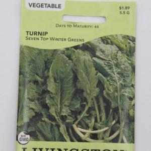 Livingston Turnip Seven Top Winter Greens