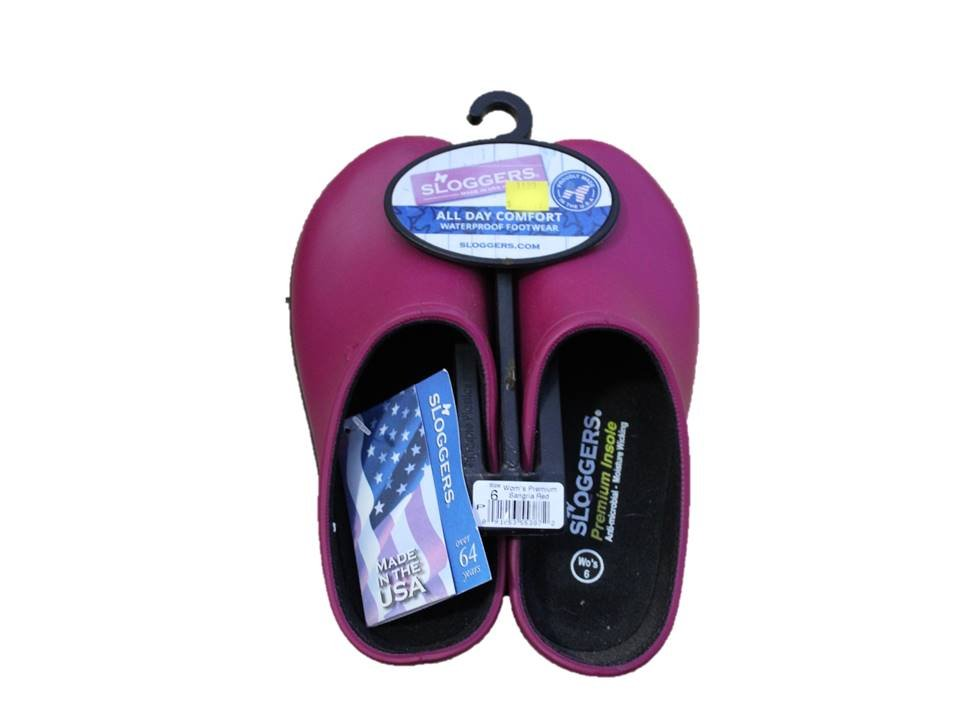 Sloggers Garden Clog Womens Sangria Red - Size 6