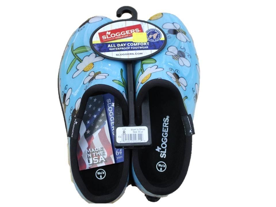 Sloggers Garden Shoe Bee Blue - Size 8