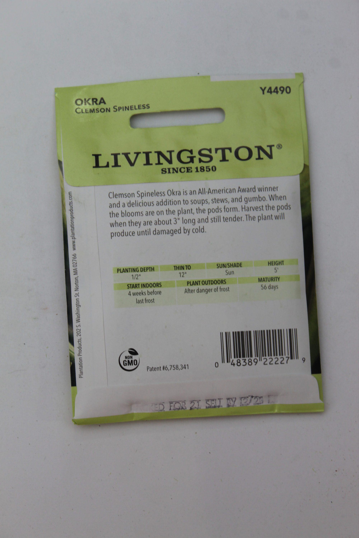 Livingston Okra Clemson Spineless