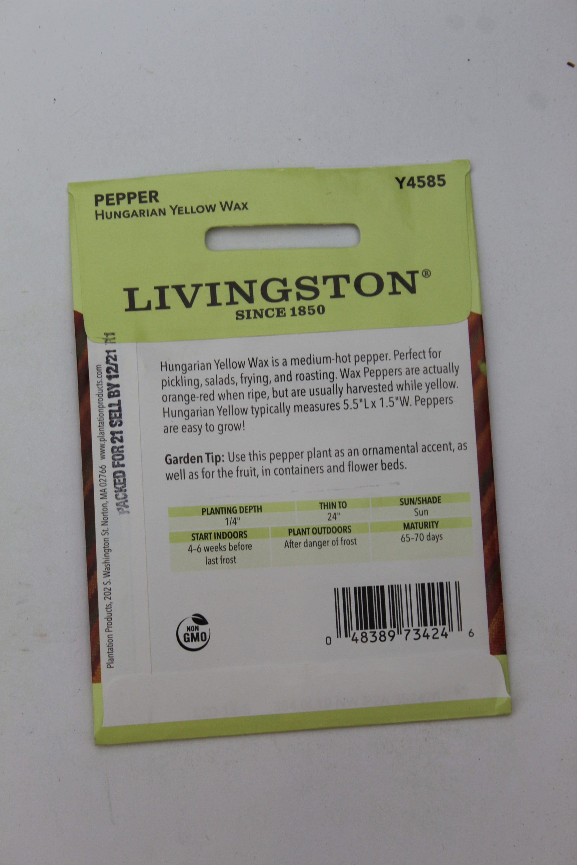Livingston Pepper Hungarian Yellow Wax