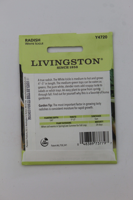 Livingston Radish White Icicle