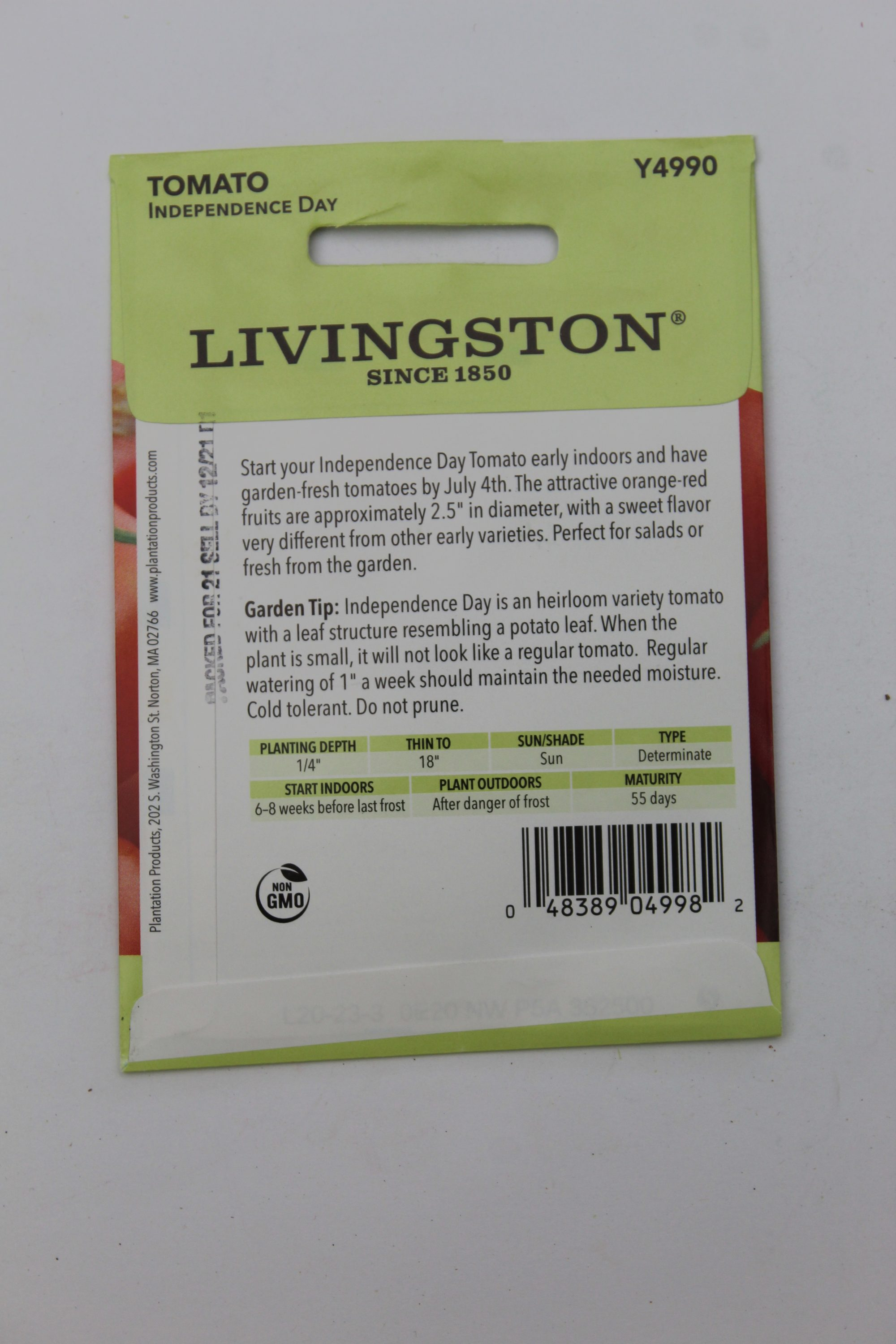 Livingston Tomato Independence Day