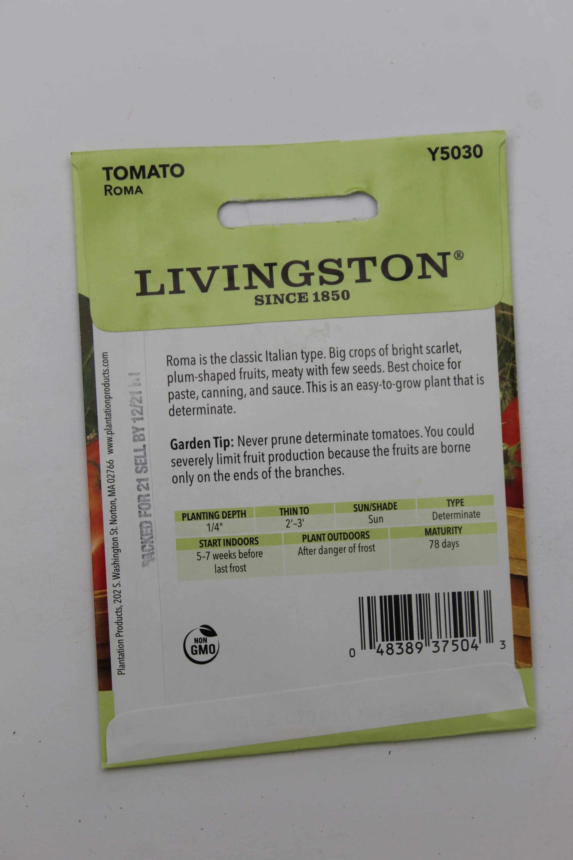 Livingston Tomato Roma